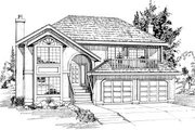 Traditional Style House Plan - 3 Beds 2 Baths 1834 Sq/Ft Plan #47-553 Exterior - Front Elevation