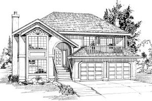 Traditional Exterior - Front Elevation Plan #47-553