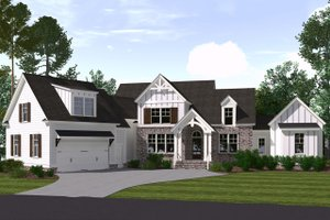 Dream House Plan - Farmhouse Exterior - Front Elevation Plan #1071-5