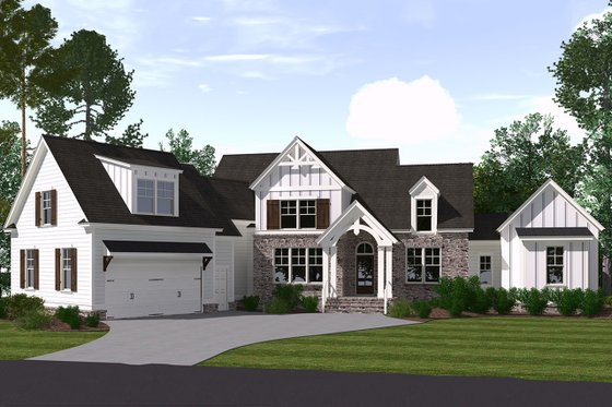Farmhouse Exterior - Front Elevation Plan #1071-5