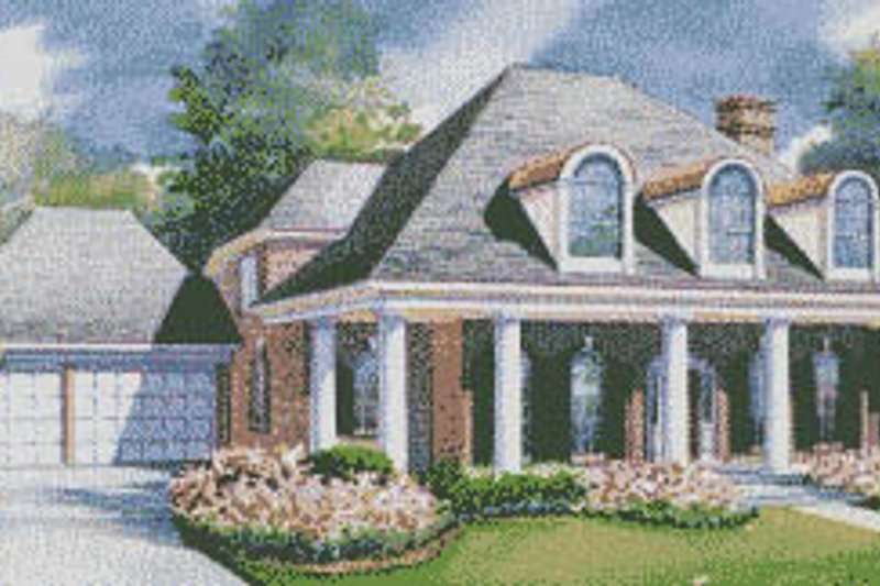 Southern Exterior - Front Elevation Plan #20-1189 - Houseplans.com