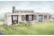Ranch Style House Plan - 4 Beds 3 Baths 3543 Sq/Ft Plan #928-348 Exterior - Front Elevation