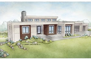 Ranch Exterior - Front Elevation Plan #928-348