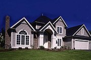 European Style House Plan - 3 Beds 2.5 Baths 1859 Sq/Ft Plan #316-120 Exterior - Front Elevation