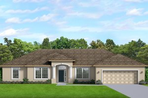 Ranch Exterior - Front Elevation Plan #1058-190