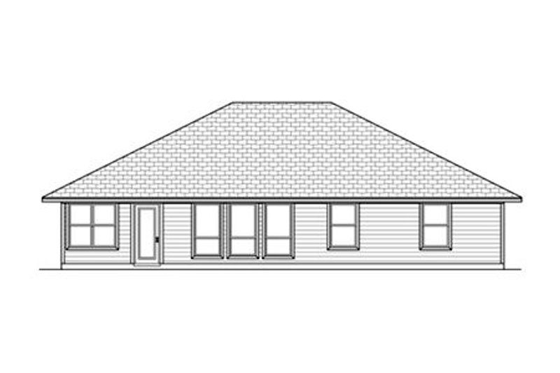 Ranch Exterior - Rear Elevation Plan #84-475 - Houseplans.com