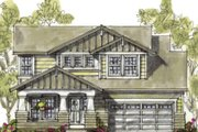 Craftsman Style House Plan - 4 Beds 3 Baths 2164 Sq/Ft Plan #20-1235 Exterior - Front Elevation