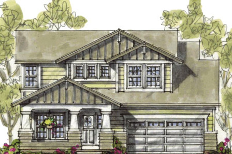 Craftsman Exterior - Front Elevation Plan #20-1235