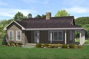 Country Style House Plan - 2 Beds 1 Baths 990 Sq/Ft Plan #22-123 Exterior - Front Elevation