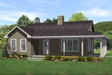 Country style home, cottage farmhouse design, front elevation