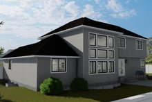 House Plan Design - Traditional Exterior - Rear Elevation Plan #1060-25