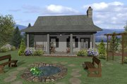 Cottage Style House Plan - 1 Beds 1 Baths 514 Sq/Ft Plan #56-715 Exterior - Rear Elevation