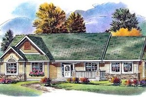 Country Exterior - Front Elevation Plan #18-4524