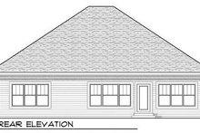 Craftsman Exterior - Rear Elevation Plan #70-916