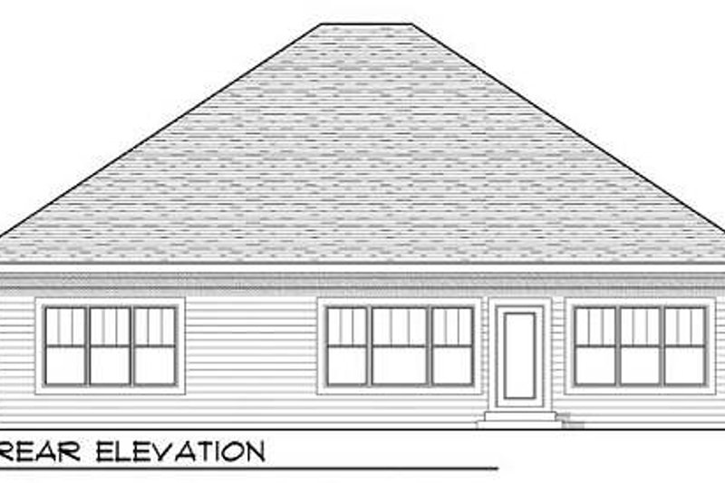 Craftsman Exterior - Rear Elevation Plan #70-916 - Houseplans.com