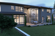 Contemporary Style House Plan - 5 Beds 6 Baths 6901 Sq/Ft Plan #1066-39 Exterior - Rear Elevation