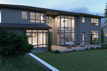 House Plan Design - Contemporary Exterior - Rear Elevation Plan #1066-39