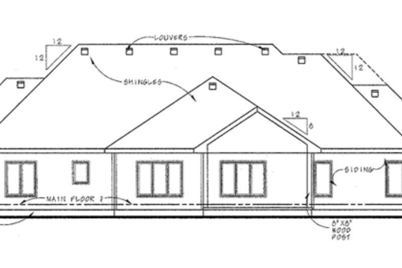European Exterior - Rear Elevation Plan #20-2065 - Houseplans.com