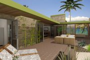 Contemporary Style House Plan - 3 Beds 3 Baths 1335 Sq/Ft Plan #484-7 Exterior - Outdoor Living
