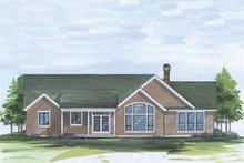 Architectural House Design - Craftsman Exterior - Rear Elevation Plan #48-101