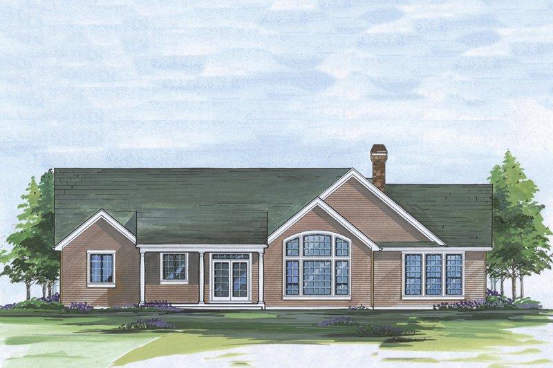 Craftsman Exterior - Rear Elevation Plan #48-101 - Houseplans.com