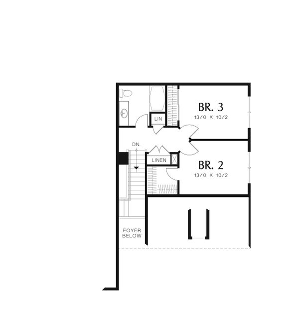 Cottage Floor Plan - Upper Floor Plan Plan #48-567