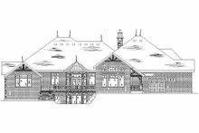Dream House Plan - European Exterior - Rear Elevation Plan #5-427
