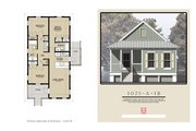 Cottage Style House Plan - 3 Beds 2 Baths 1025 Sq/Ft Plan #536-3
