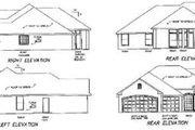 European Style House Plan - 4 Beds 3 Baths 2326 Sq/Ft Plan #65-411 Exterior - Rear Elevation