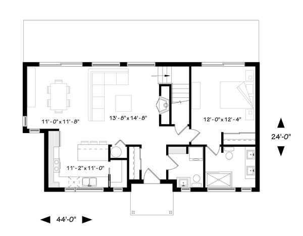 Dream House Plan - Contemporary Floor Plan - Main Floor Plan #23-2312