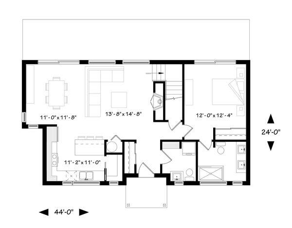 Contemporary Floor Plan - Main Floor Plan Plan #23-2312