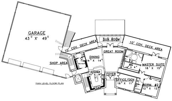Ranch Floor Plan - Main Floor Plan Plan #117-563
