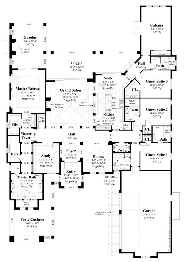 Contemporary Floor Plan - Main Floor Plan Plan #930-509