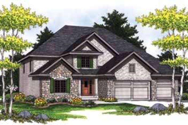 Home Plan - Traditional Exterior - Front Elevation Plan #70-842