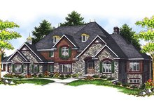 House Plan Design - European Exterior - Front Elevation Plan #70-639