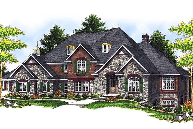 House Plan Design - European Exterior - Front Elevation Plan #70-639