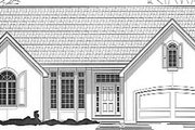 European Style House Plan - 4 Beds 3 Baths 2716 Sq/Ft Plan #67-712 Exterior - Front Elevation