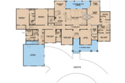 Craftsman Style House Plan - 4 Beds 4 Baths 5098 Sq/Ft Plan #923-121 Floor Plan - Main Floor Plan