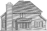 Traditional Style House Plan - 4 Beds 2.5 Baths 2173 Sq/Ft Plan #70-314 Exterior - Rear Elevation