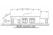 Architectural House Design - Traditional Exterior - Rear Elevation Plan #20-1761