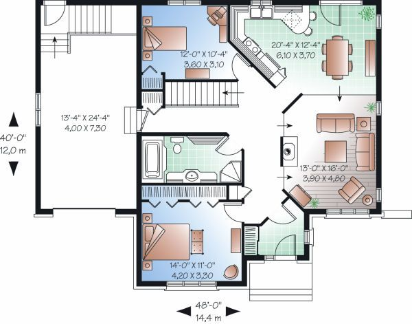 Home Plan - Traditional Floor Plan - Main Floor Plan #23-792