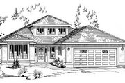 Traditional Style House Plan - 2 Beds 2 Baths 2114 Sq/Ft Plan #18-9064 Exterior - Front Elevation