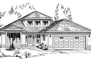 Traditional Exterior - Front Elevation Plan #18-9064