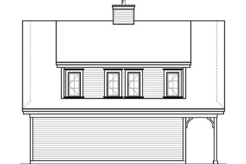 Country Exterior - Rear Elevation Plan #23-623 - Houseplans.com