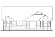 House Plan Design - Country Exterior - Rear Elevation Plan #124-931