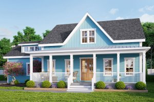 House Plan Design - Farmhouse Exterior - Front Elevation Plan #461-71
