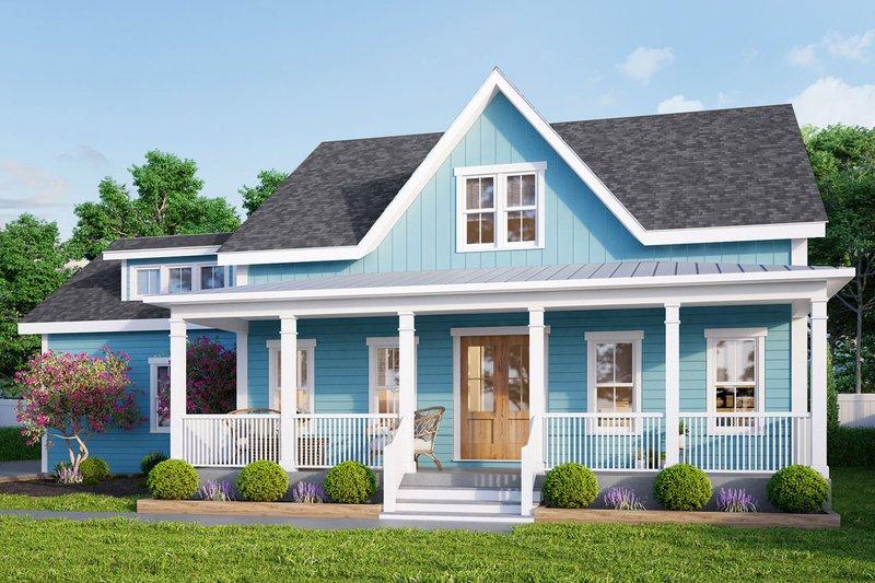 Farmhouse Exterior - Front Elevation Plan #461-71