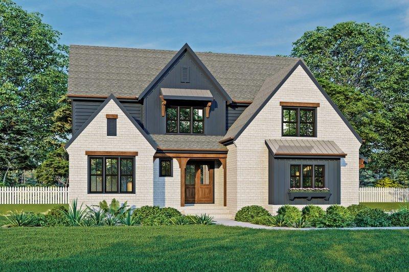Architectural House Design - Farmhouse Exterior - Front Elevation Plan #927-1026