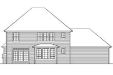 Home Plan - Colonial Exterior - Rear Elevation Plan #48-435