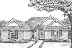 Southern Exterior - Front Elevation Plan #310-285
